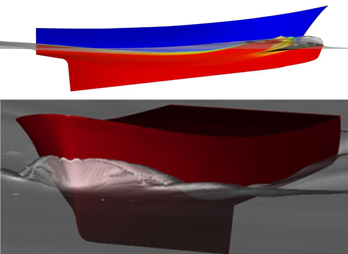 Chalutier optimisation carene CFD