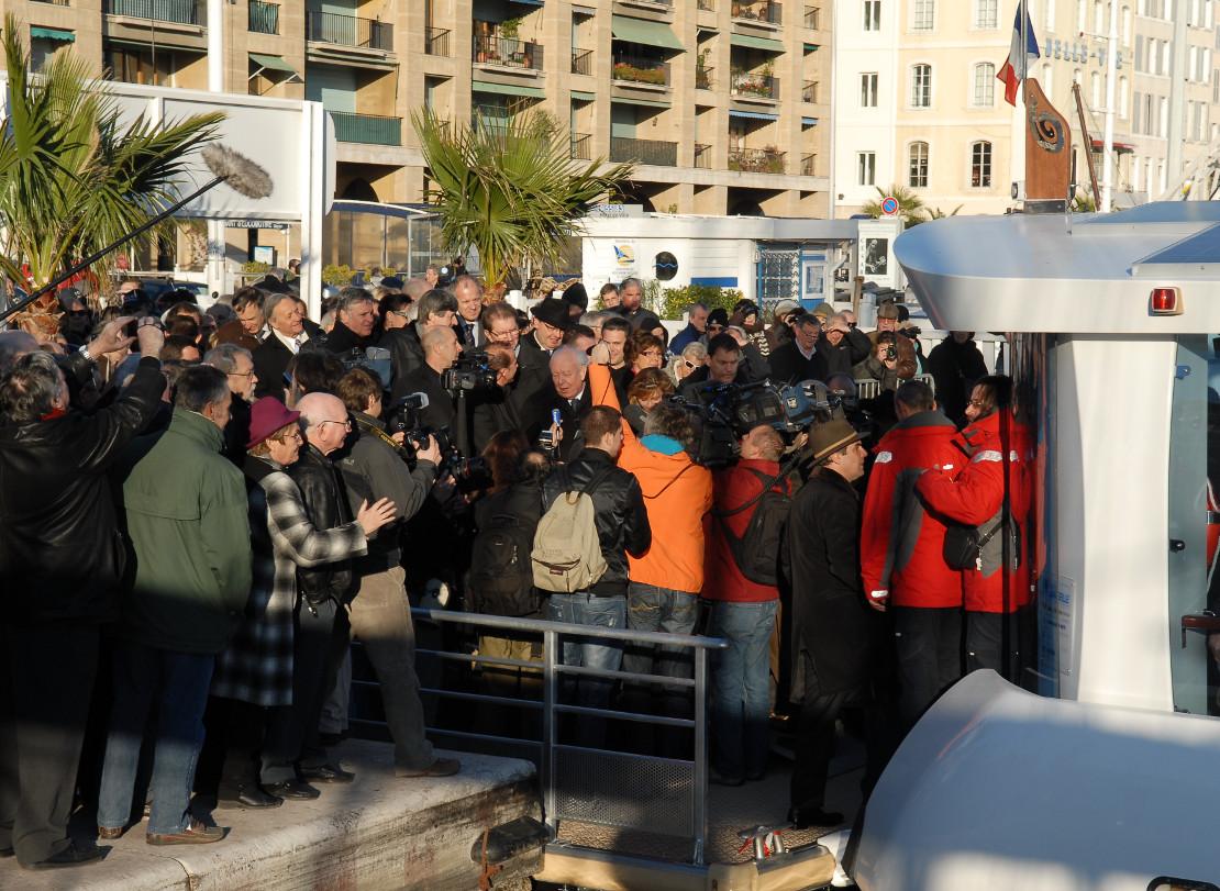 Ferry boat-inauguration ville de Marseille-Maire Gaudin
