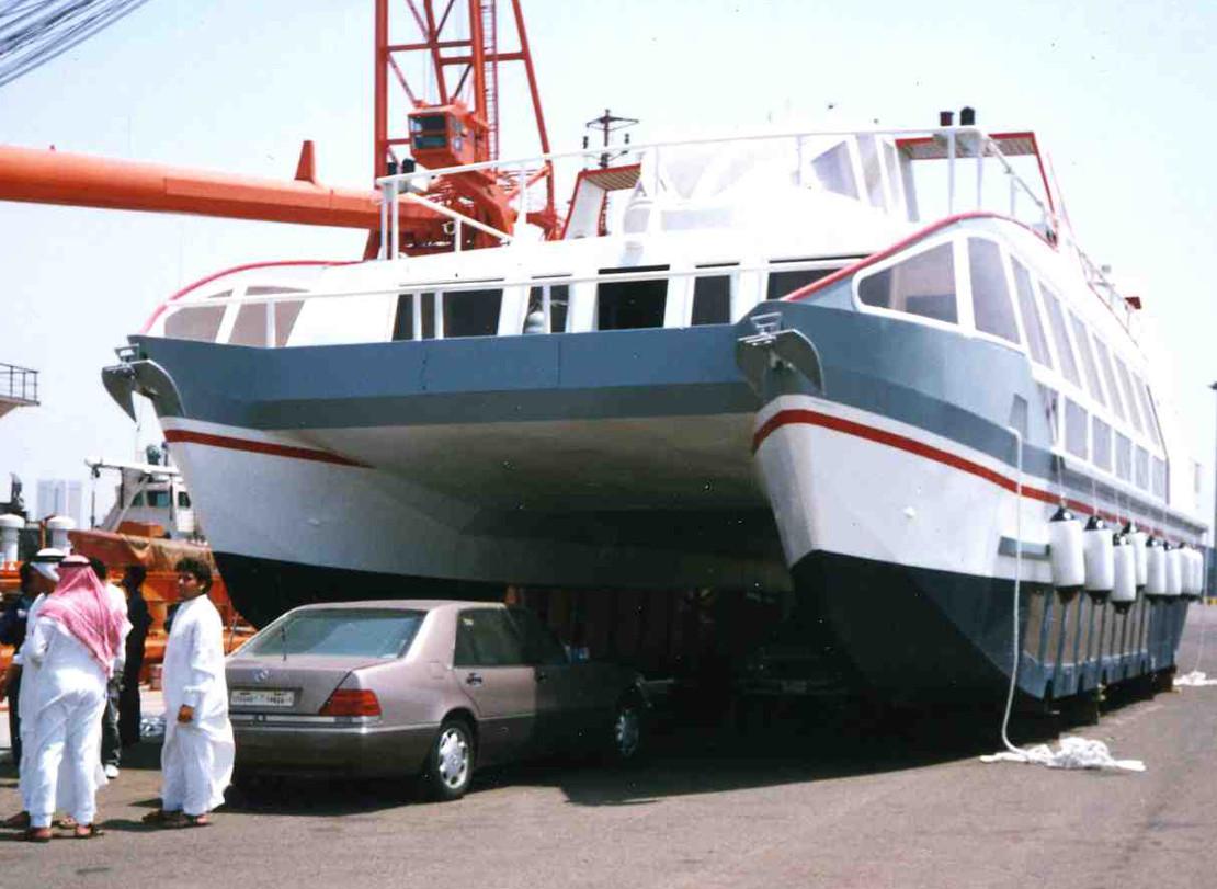 Kabatha-catamaran vision sous marine