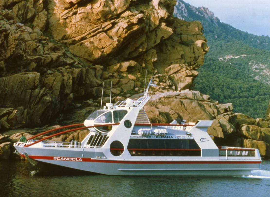 Transport de passagers Réserve Naturelle de Scandola