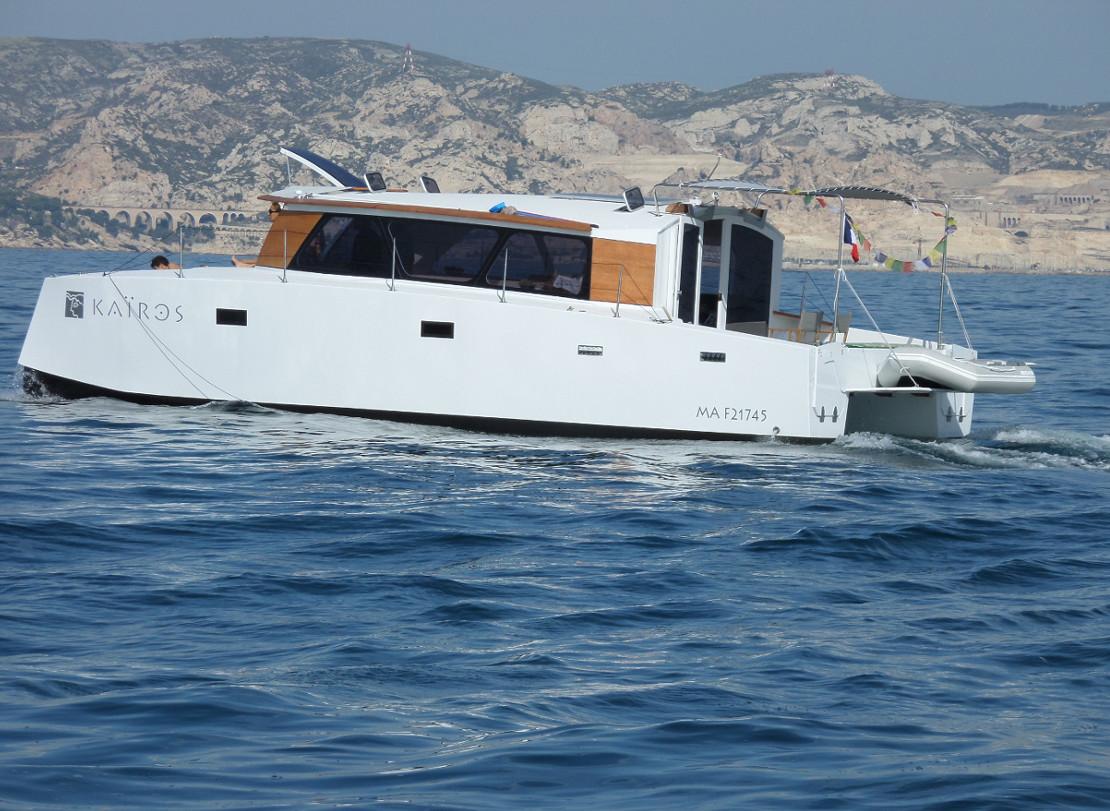 kairos catamaran trawler