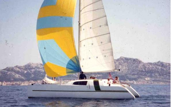 Very Crazy fast cruising catamaran